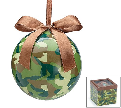 Camouflage Christmas Tree Ornaments