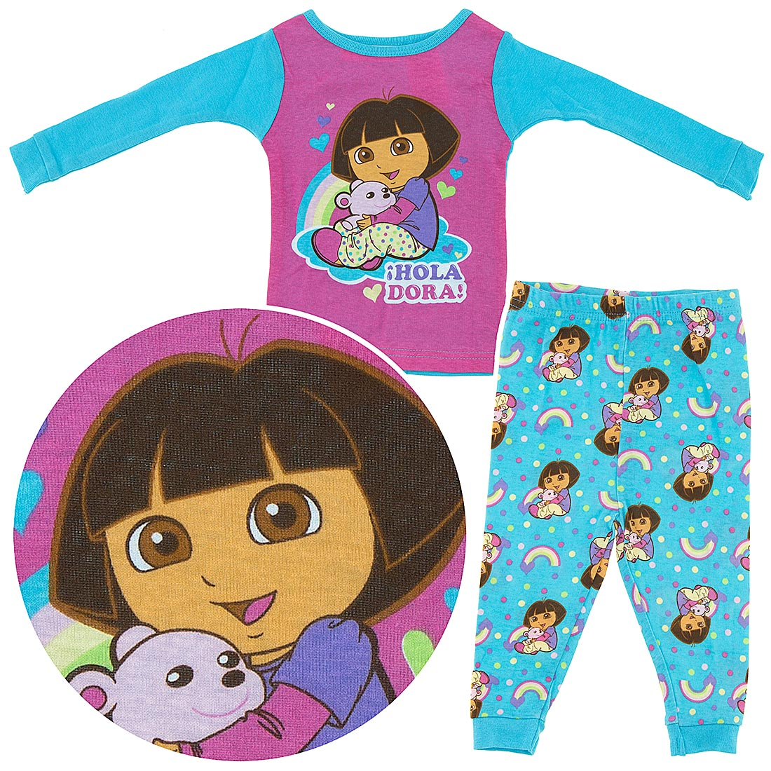 Dora The Explorer Pajamas For Toddler Girls Christmas