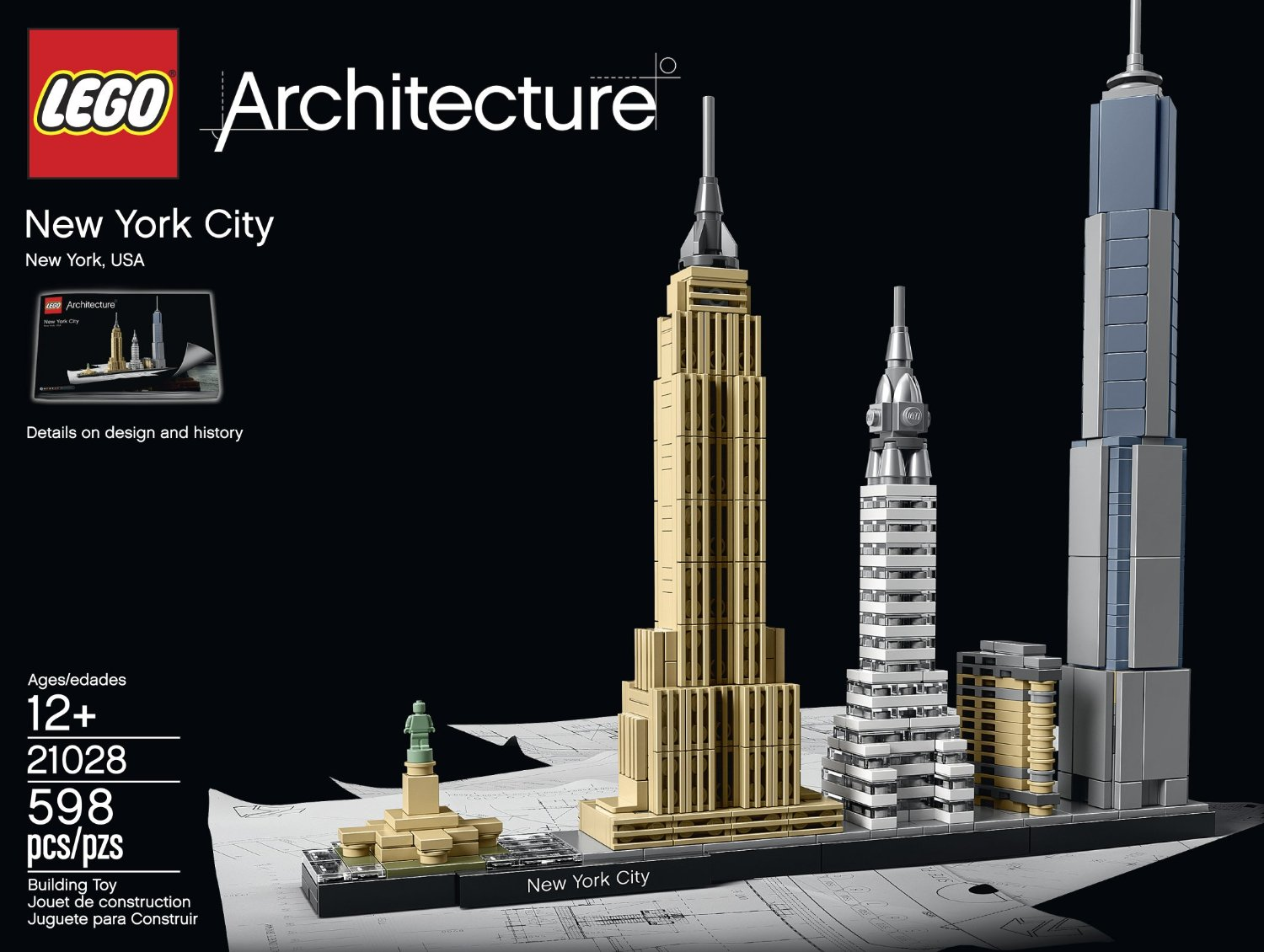 lego architecture new york city. Black Bedroom Furniture Sets. Home Design Ideas
