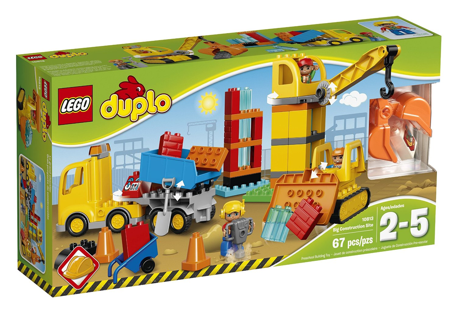 Construction Site Toys For Boys : Lego duplo big construction site