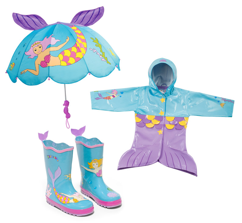 Mermaid Rain Gear for Girls