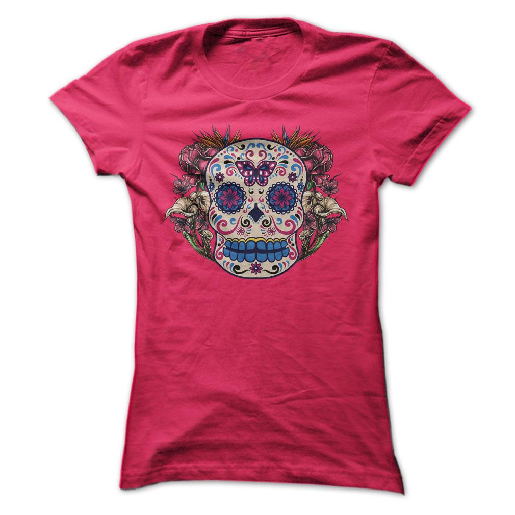 Tattoo Style Sugar Skull T Shirts