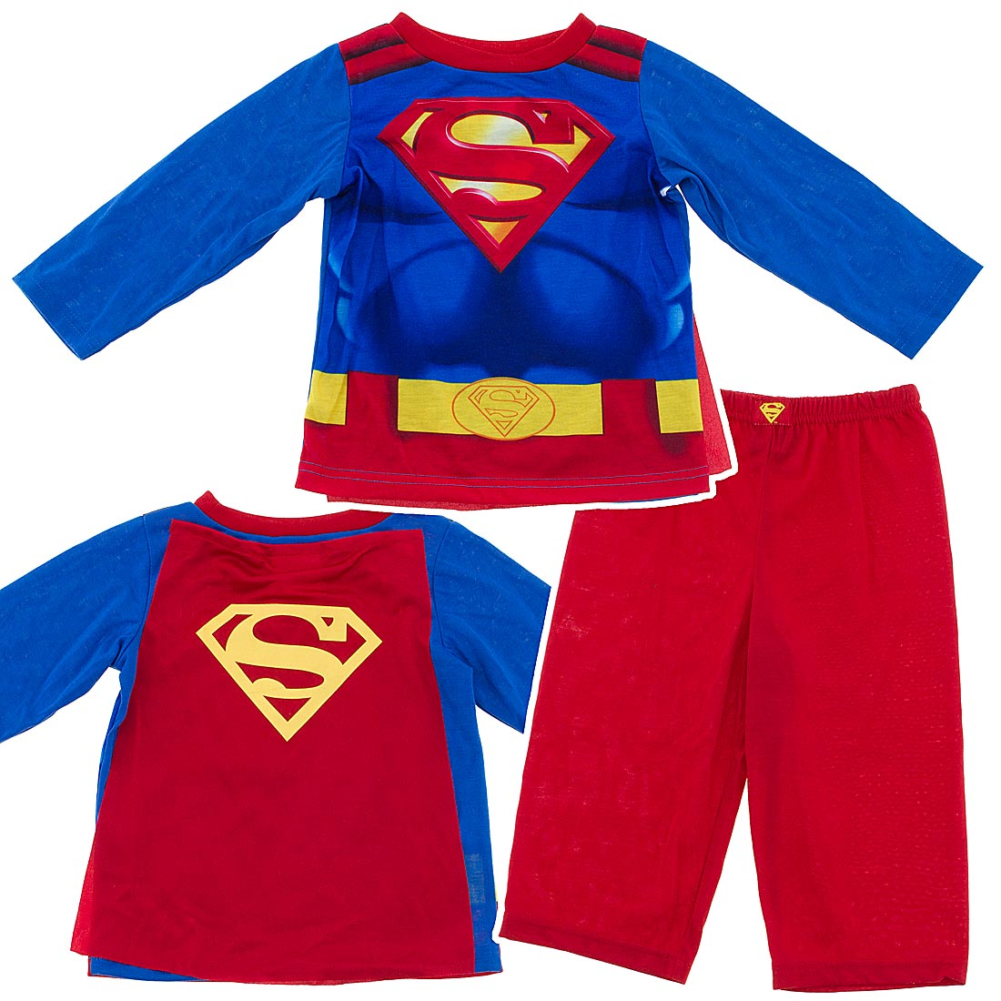 Superman Pajamas With Cape For Toddlers