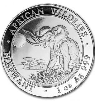 2016 Somalia 1 oz Silver Elephant Coins