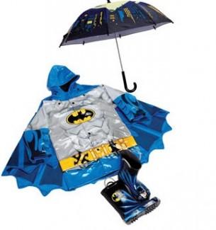 Boys Batman Raincoat Boots and Umbrellas