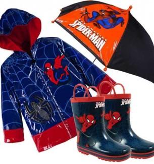 Spiderman Raincoats Boots and Umbrellas