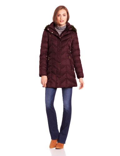 Warm Chevron Down Jacket for Women