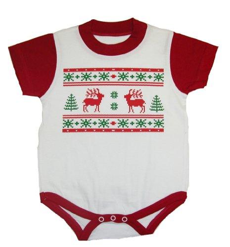 Infants Ugly Christmas Sweater Bodysuits