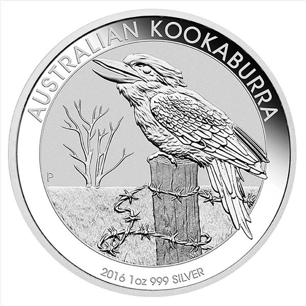 2016 Australian Kookaburra 1 Oz Silver Coins