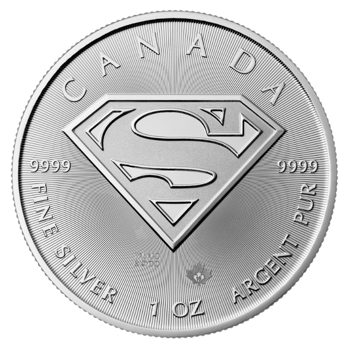2016 Canada Superman Man of Steel 1 oz Silver Coin