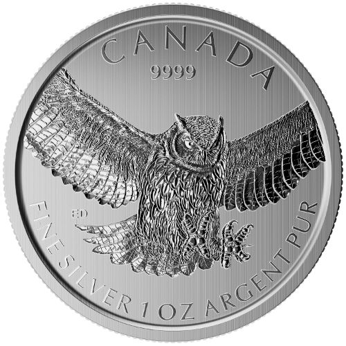 Canadian 1 Oz Silver Coins Birds of Prey Series