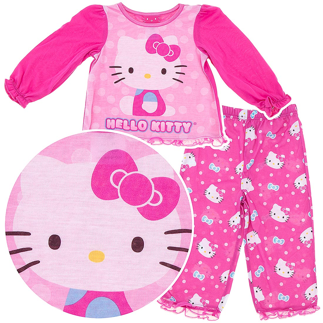 Hello Kitty Pajamas for Toddler Girls