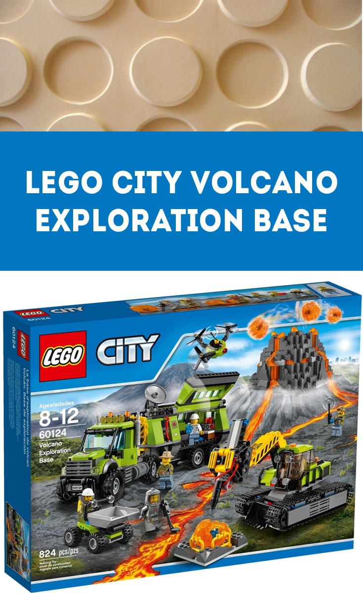 The Lego City Volcano Exploration Base is one of several building sets in the Lego City collection.