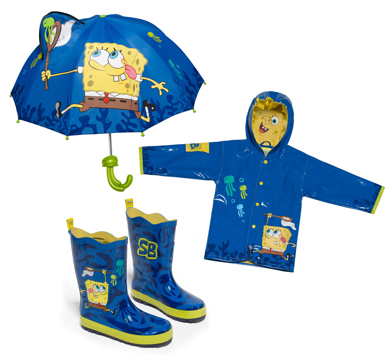 SpongeBob SquarePants Raincoats Boots and Umbrellas