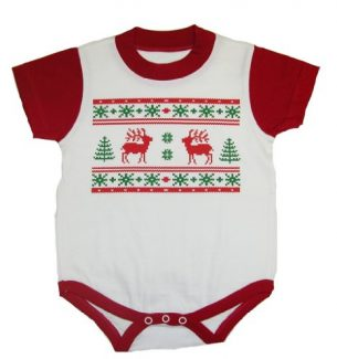 Infants Ugly Christmas Sweater Bodysuits