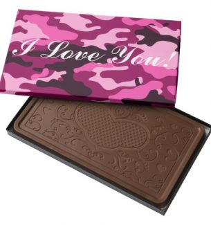 Personalized Message Camouflage Chocolate Candy