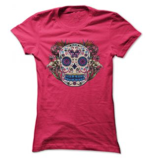 Tattoo Style Sugar Skull T Shirts