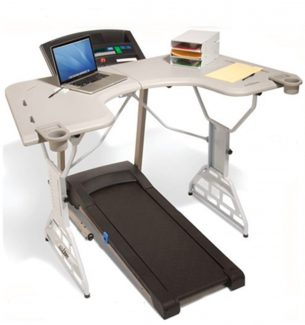 Treadmill Desk to Keep the Pounds Off