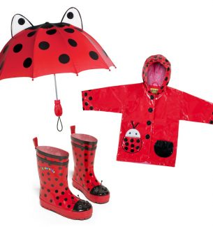 Ladybug Rain Gear Sets for Toddlers