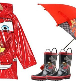 Toddlers Disney Cars Rain Gear Set