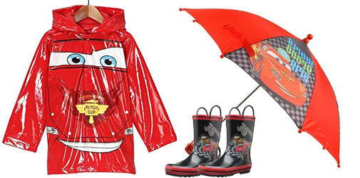 Toddlers Disney Cars Rain Gear Set